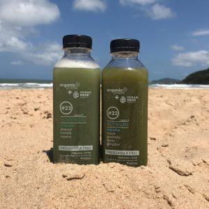 suco com algas